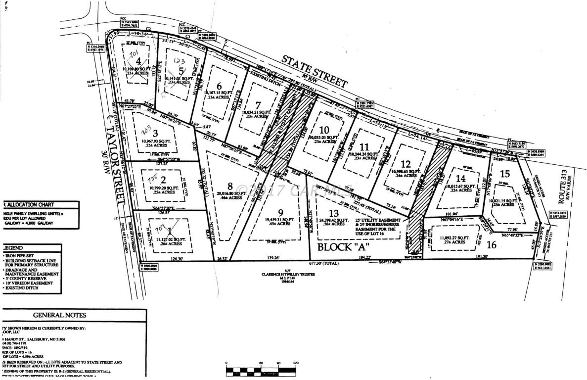 Land for Sale at 119 State St Sharptown, Maryland 21861 United States
