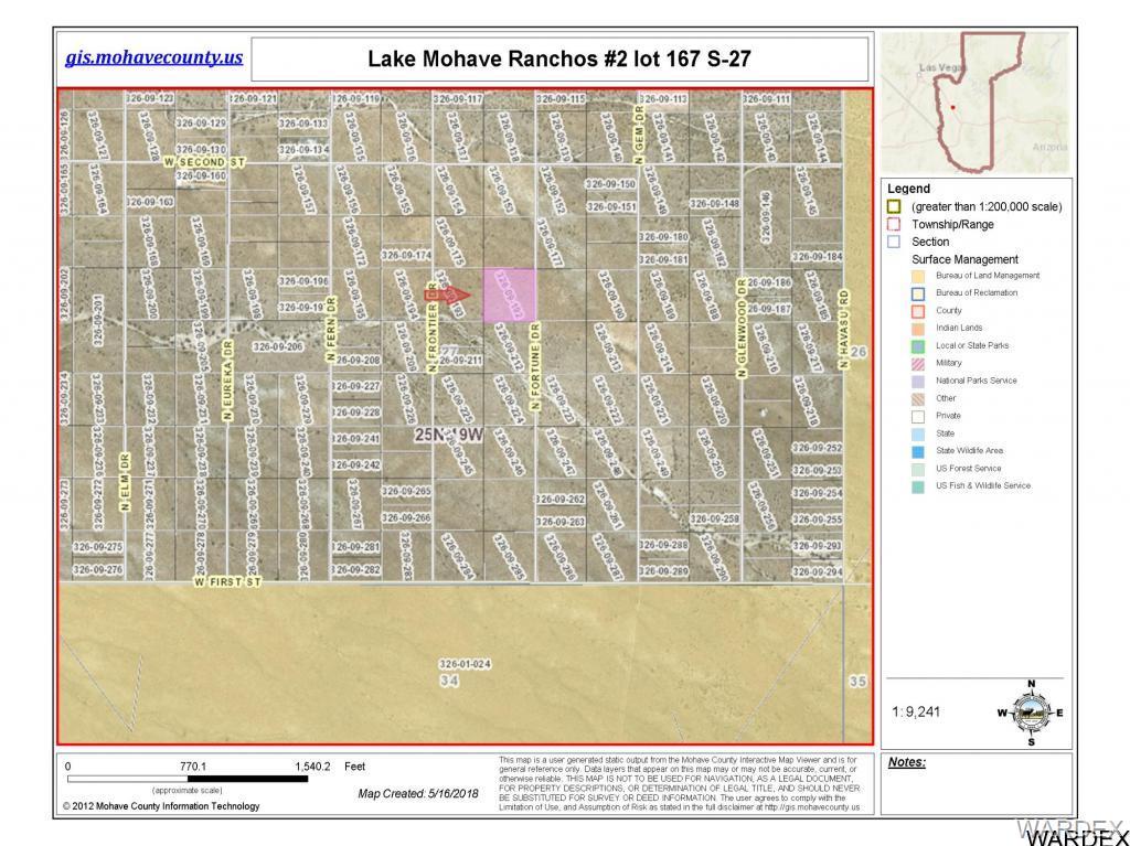 Dolan Springs Arizona Map.Lot 167 N Fortune Dr Dolan Springs Az 86441 Mls 940474